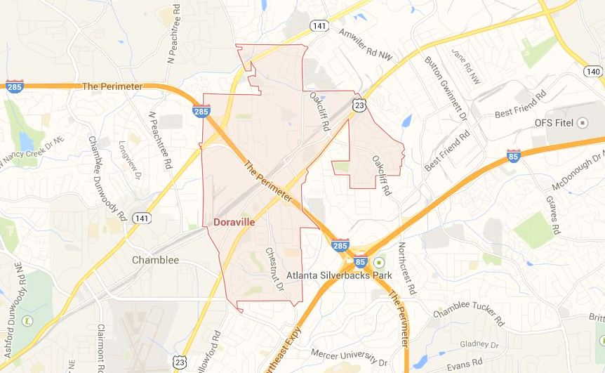 City Of Doraville, Dekalb County Map Location